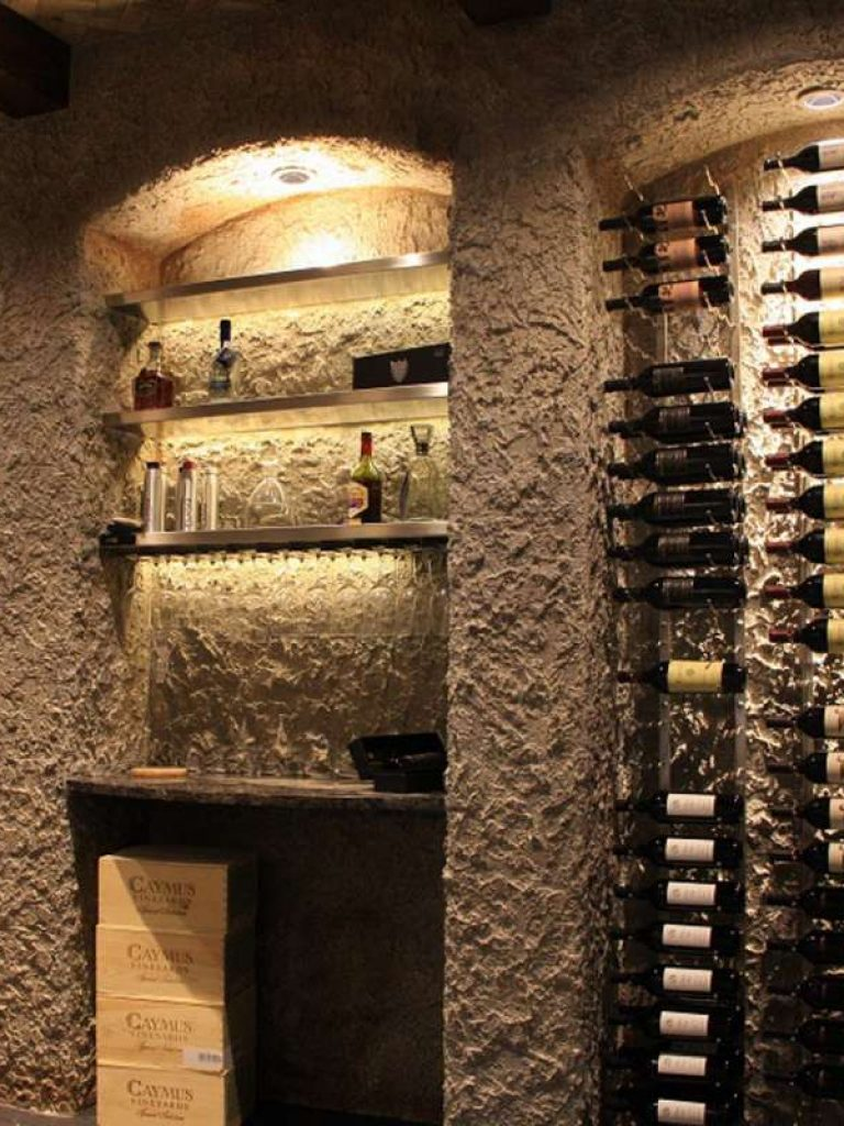 wine room in Plano