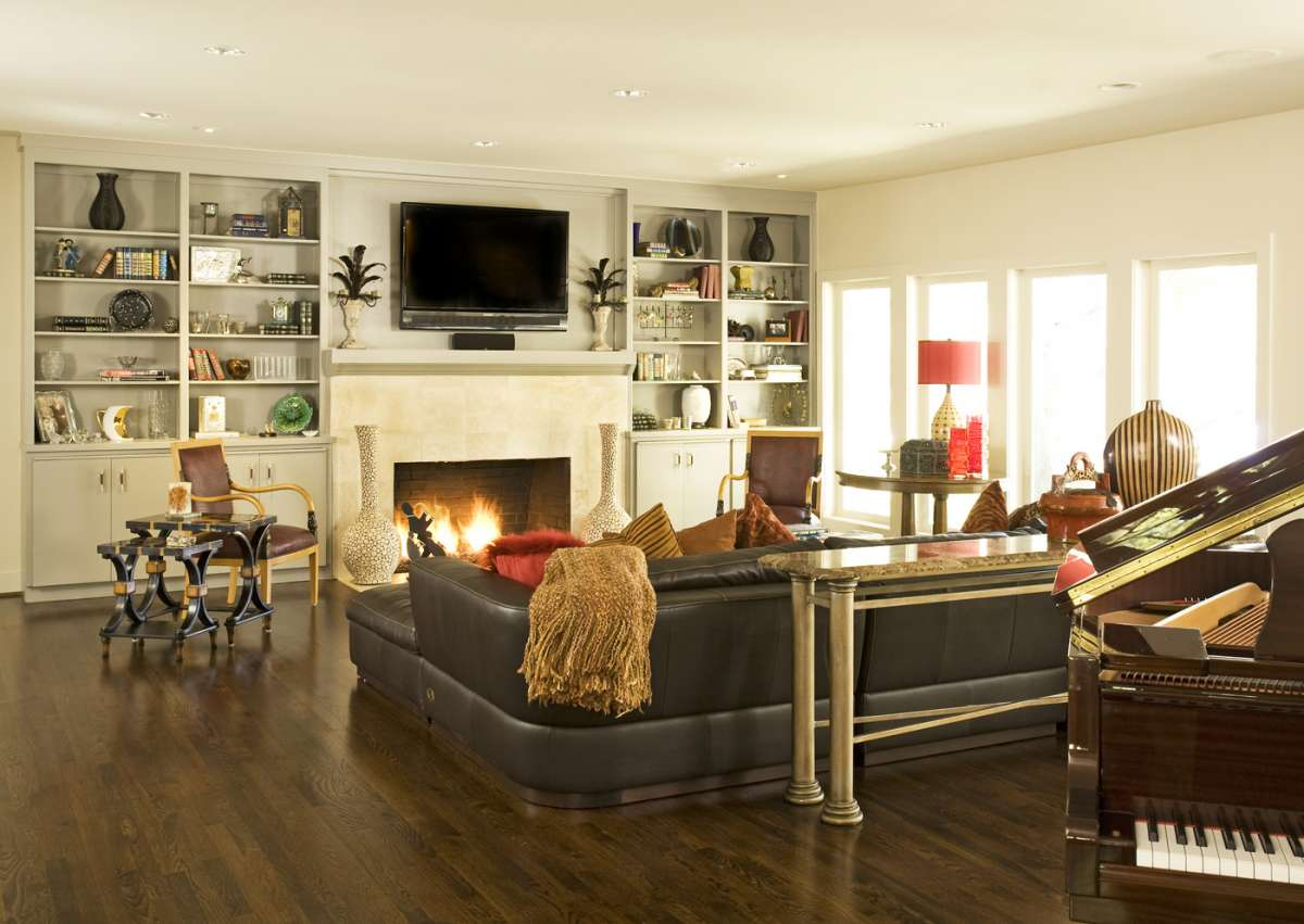 Living Room in Preston Hollow whole house remodel Dallas