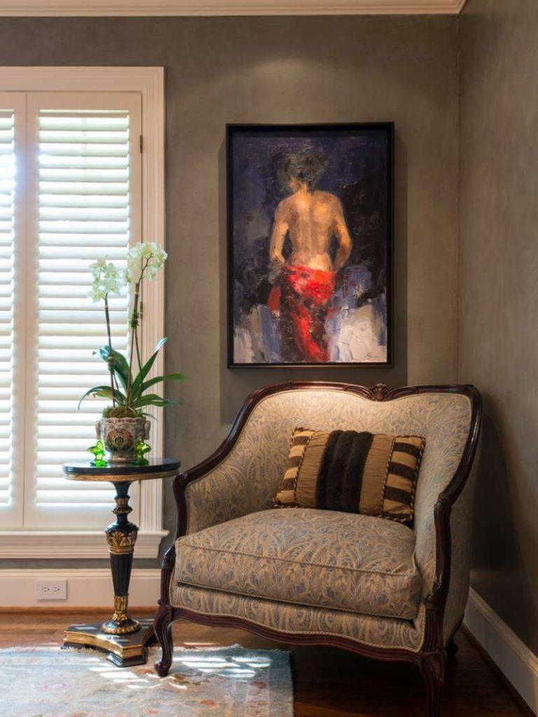 art lighting in preston hollow master bedroom remodel