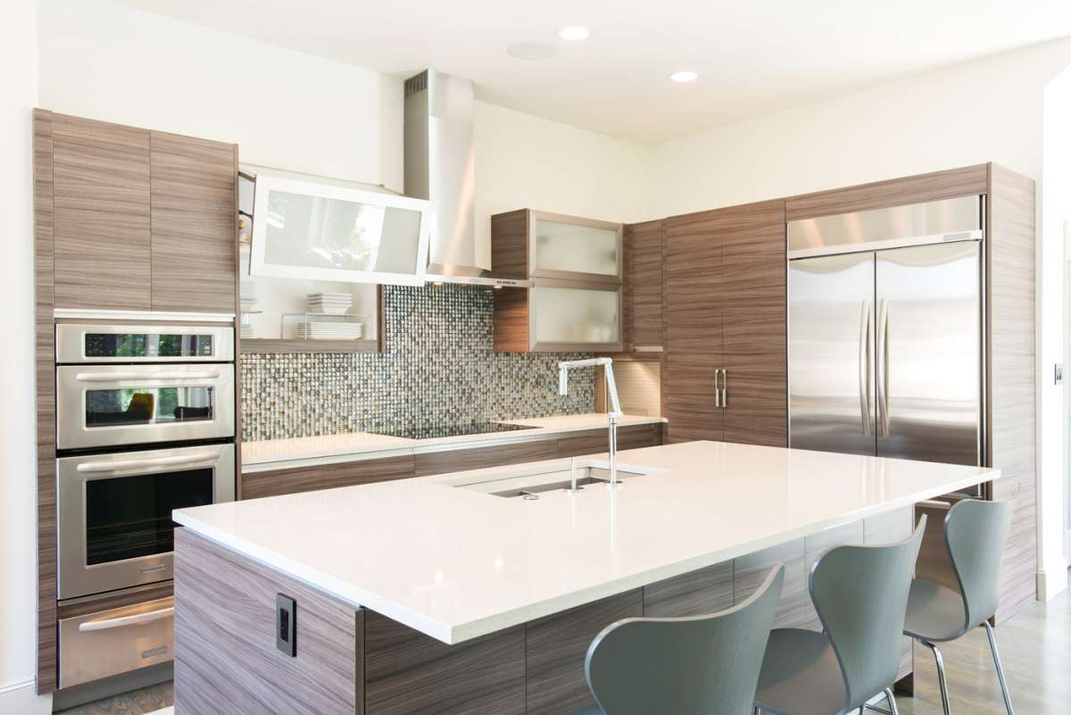 bifold cabinet doors in Dallas kitchen remodel Northwood Hills