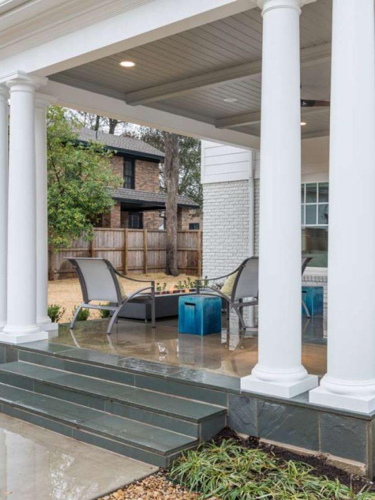 classic columns at dallas outdoor living