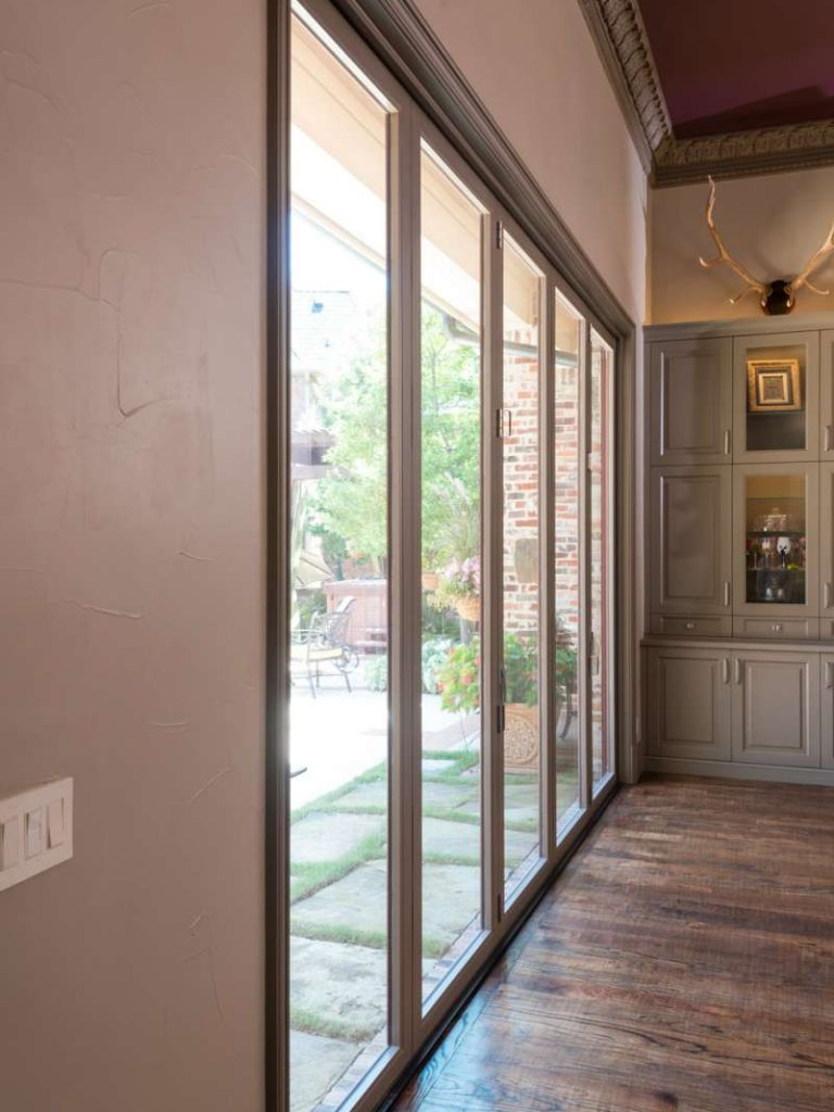 closed multi panel sliding doors in Southlake