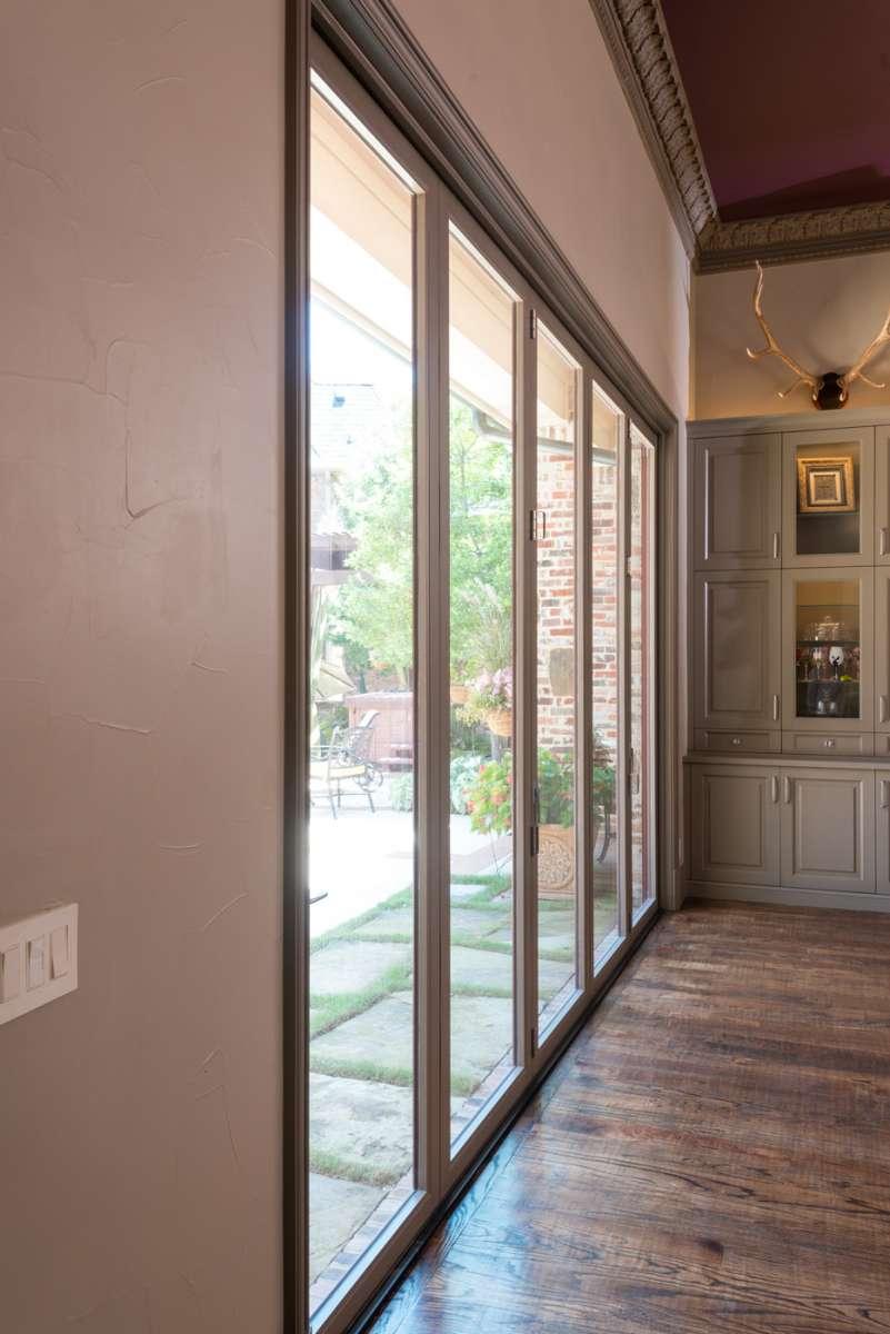 closed multi panel sliding doors in Southlake
