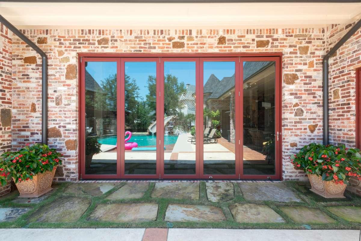closed multi panel sliding doors