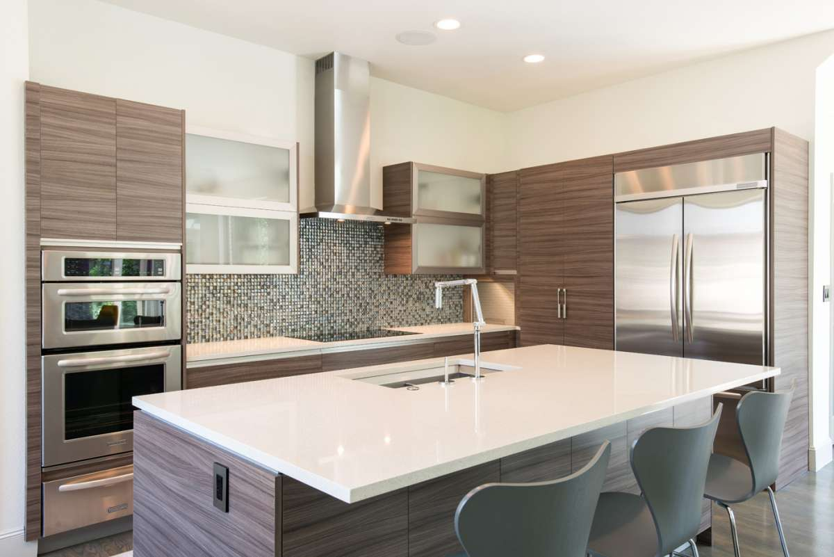 contemporary kitchen in Dallas whole house remodel Northwood Hills