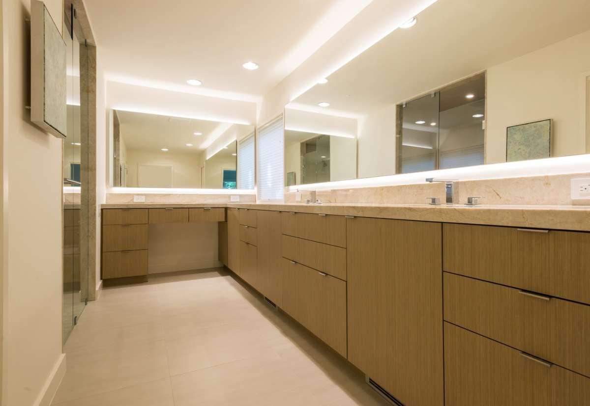 custom cabinetry at master bathroom vanity in preston hollow remodel