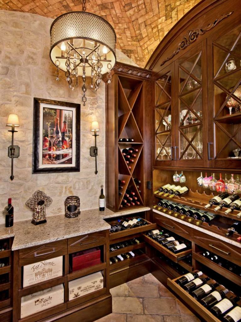 custom cabinetry in Southlake Wine Room