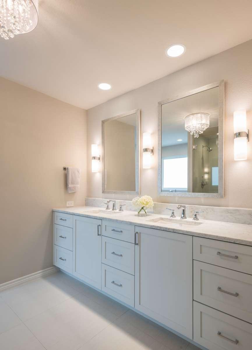 custom vanity cabinetry in dallas master bathroom remodel