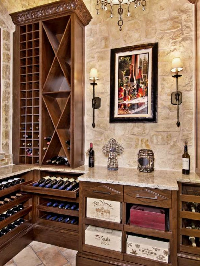 custom wine storage in southlake wine room