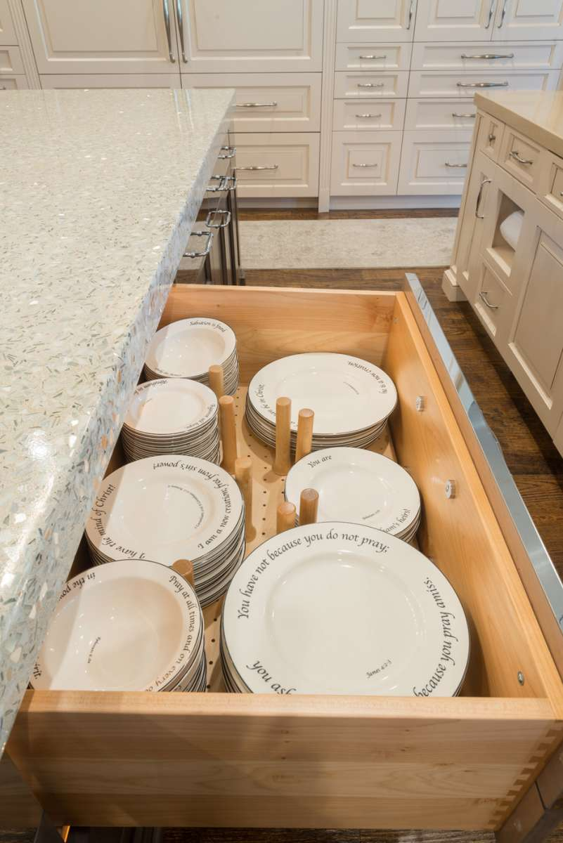 dish drawer in Southlake kitchen remodel