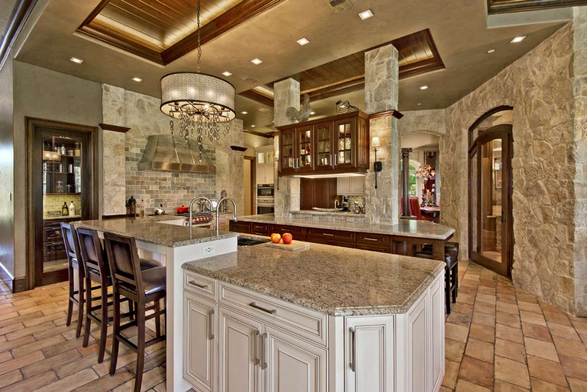 dual islands in southlake kitchen remodel