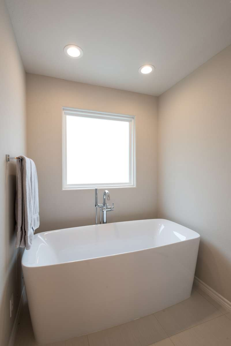 freestanding tub in dallas master bathroom remodel