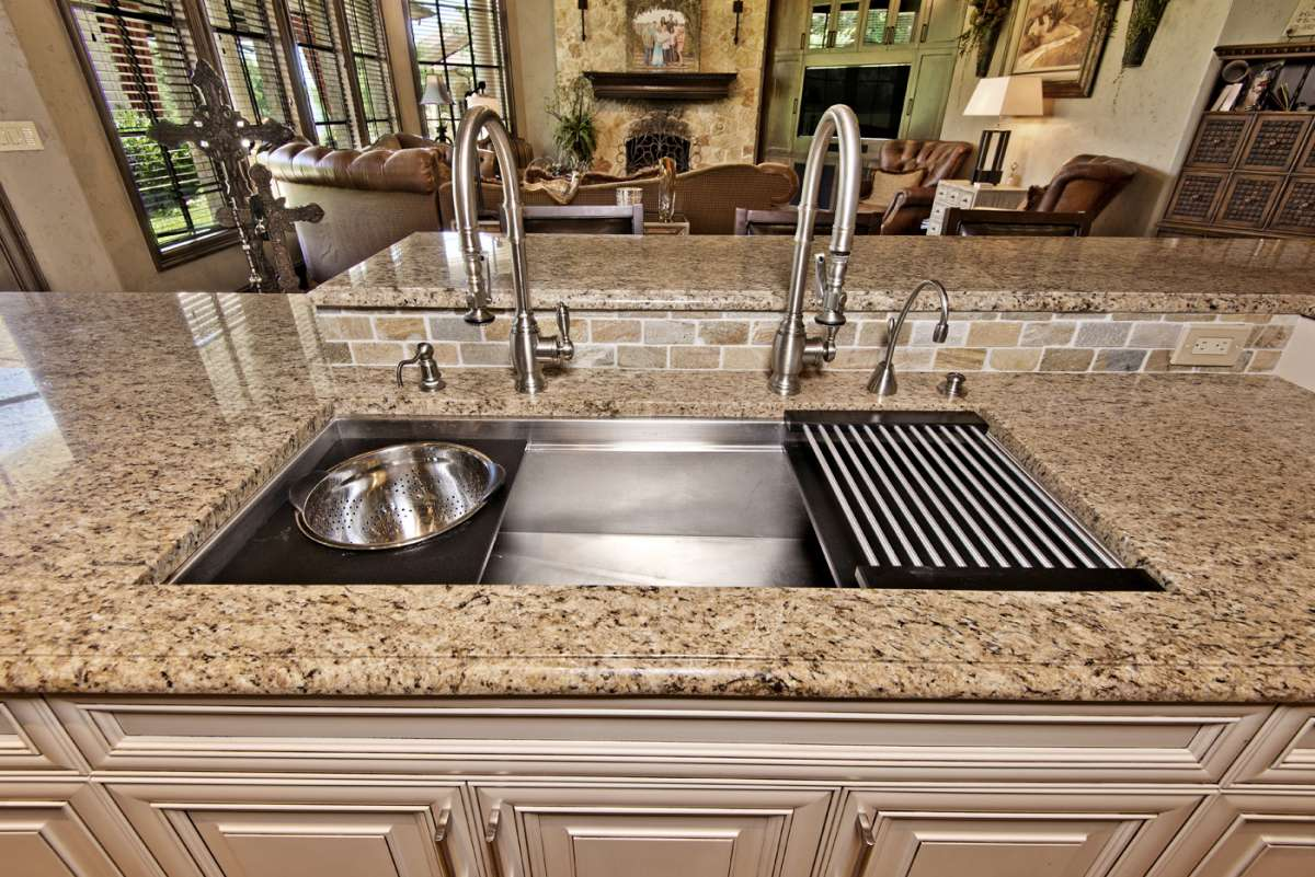 galley kitchen sink in southlake kitchen remodel