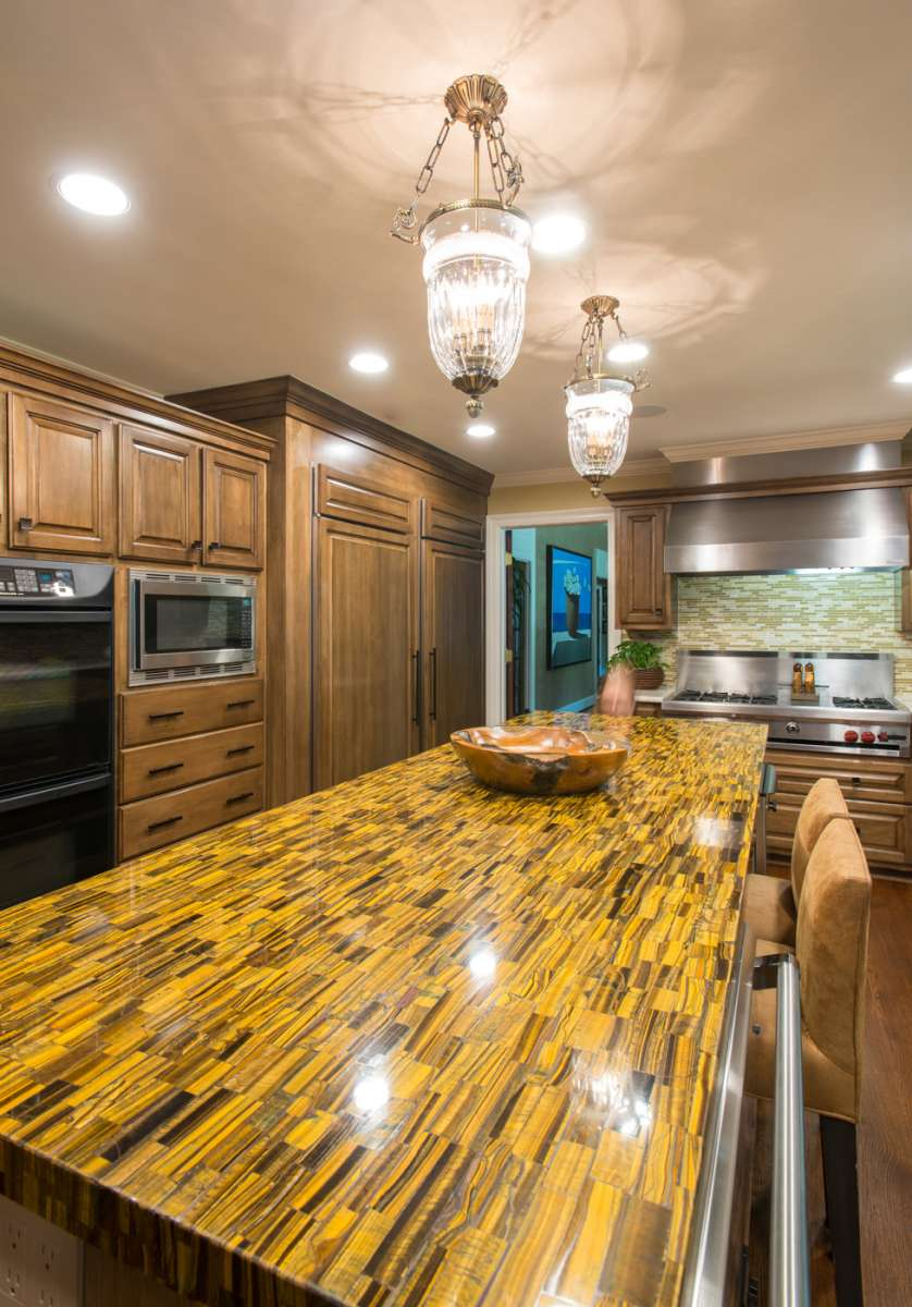 island countertop in preston hollow kitchen remodel