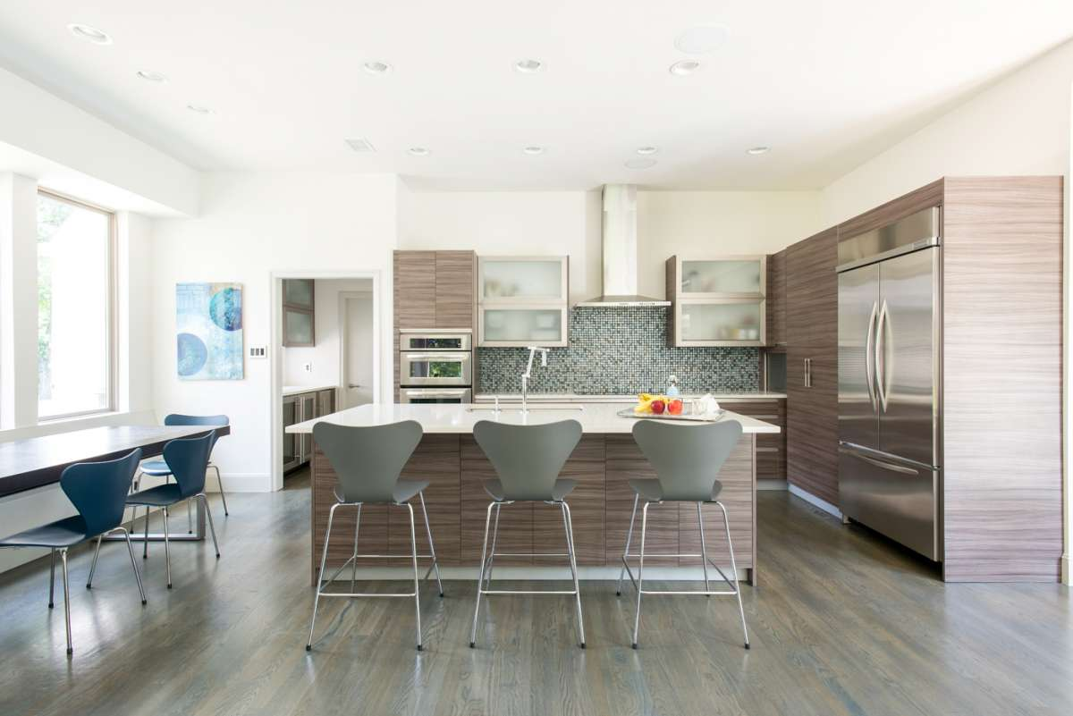 island of Northwood Hills Dallas kitchen remodel