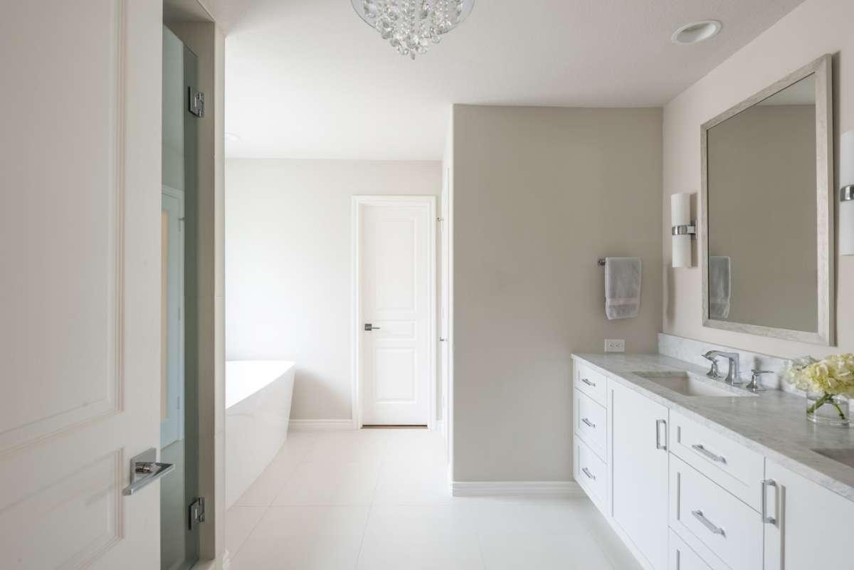 master bathroom in dallas whole house remodel