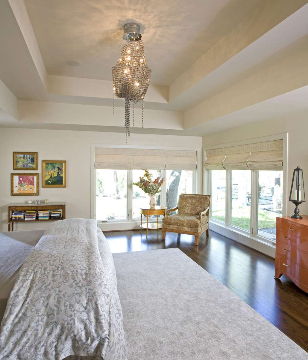 master bedroom in preston hollow whole house renovation