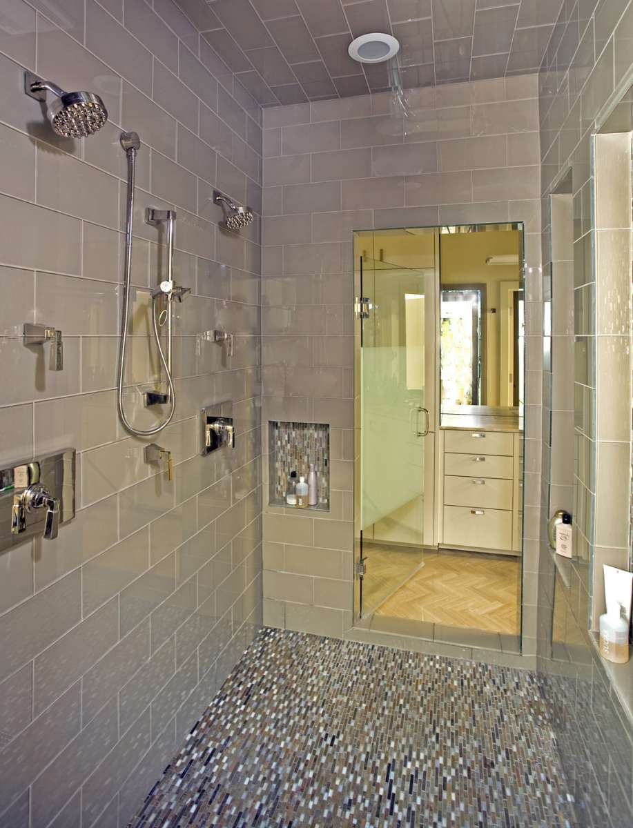 master shower in Preston Hollow whole home remodel