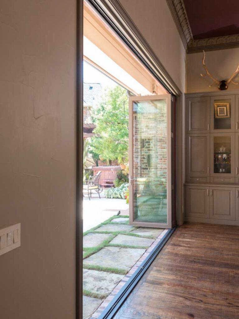 open multi panel sliding doors in Southlake
