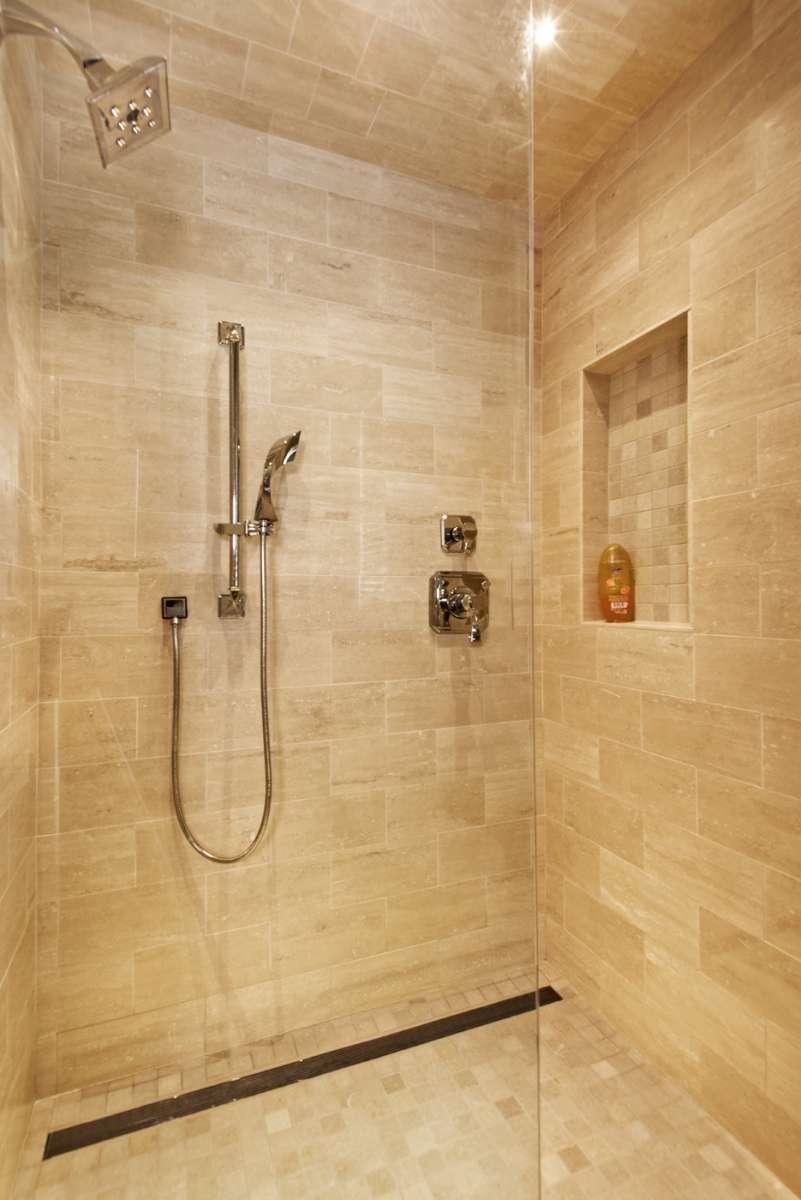 shower details in southlake bathroom remodel