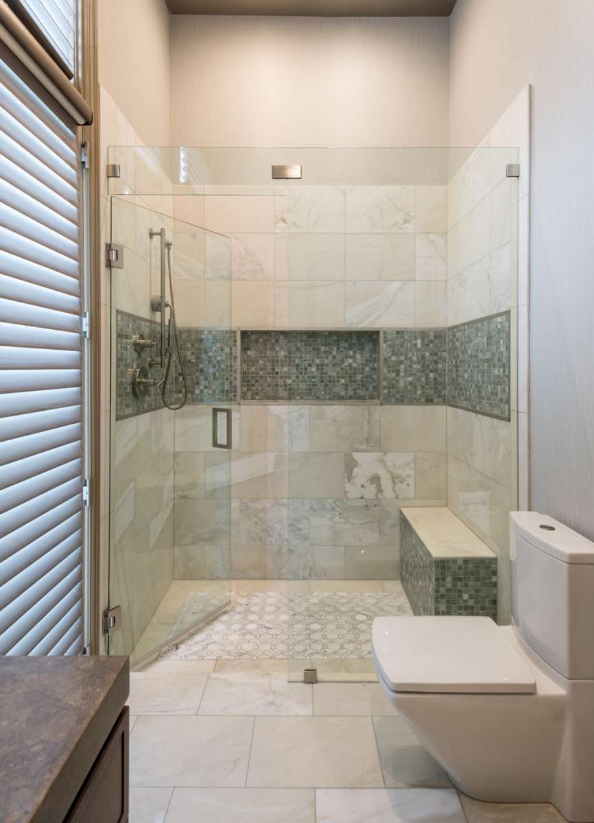 shower in plano guest bathroom remodel