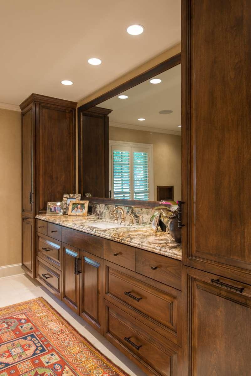 vanity cabinetry in preston hollow master bathroom addition