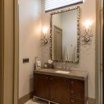 vanity in bathroom of plano guest suite remodel