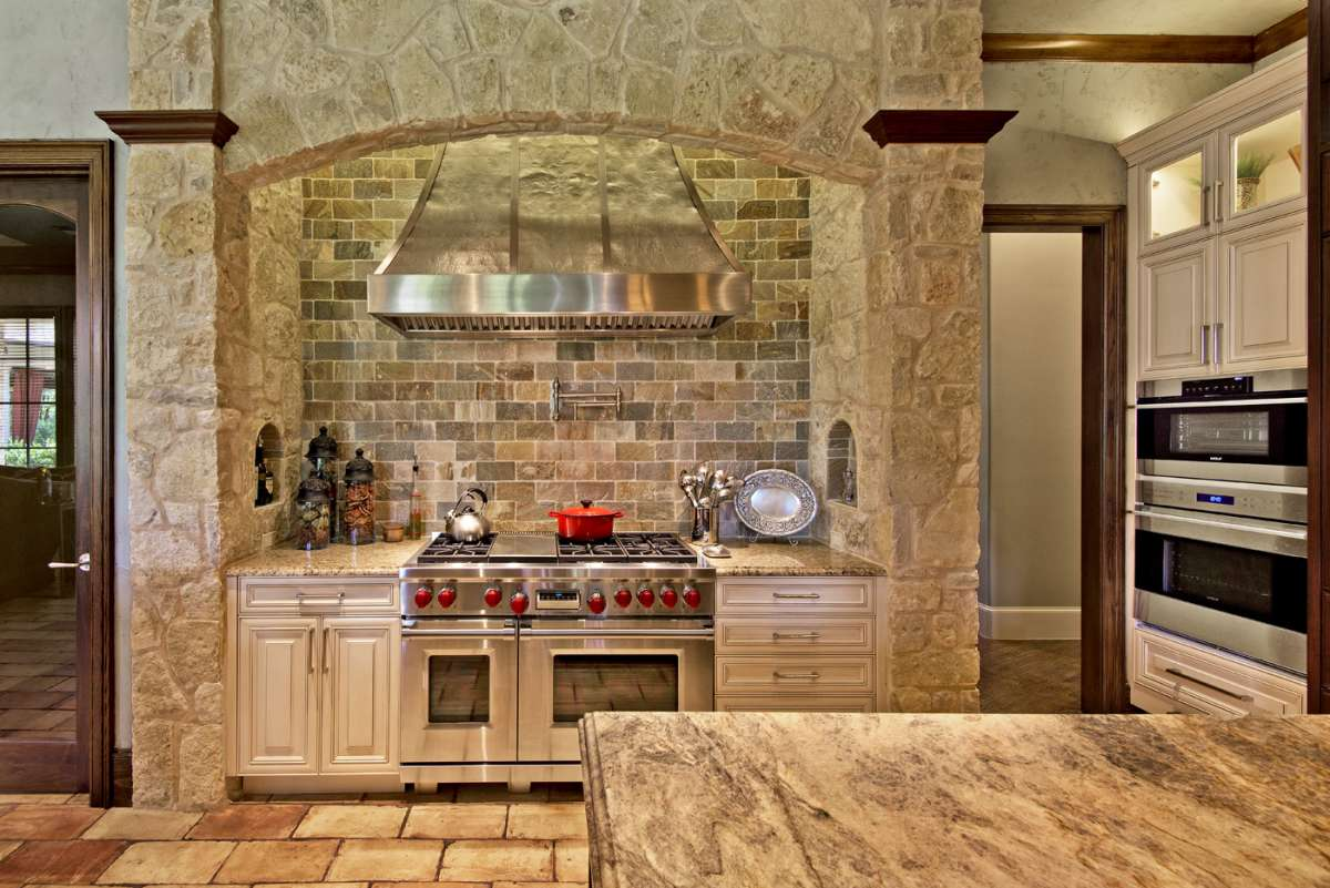 wolf range in southlake kitchen remodel
