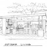 architectural sketch of outdoor living in plano tx