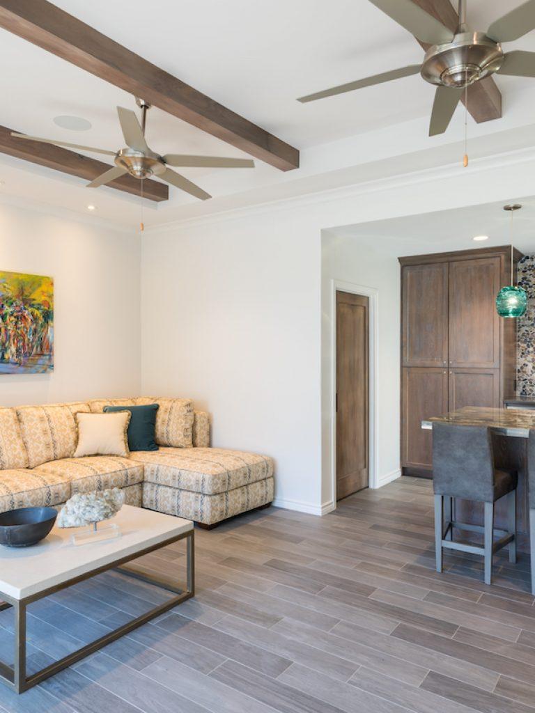 living area of preston hollow pool cabana