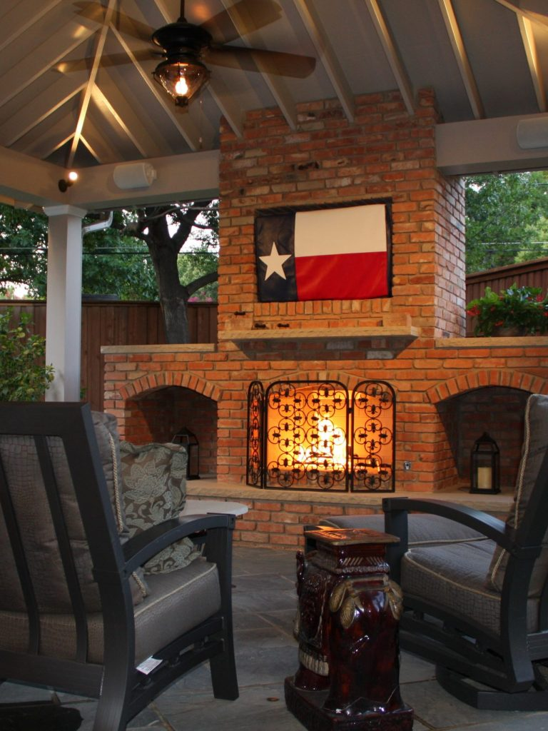 outdoor fireplace in Northwood Hills