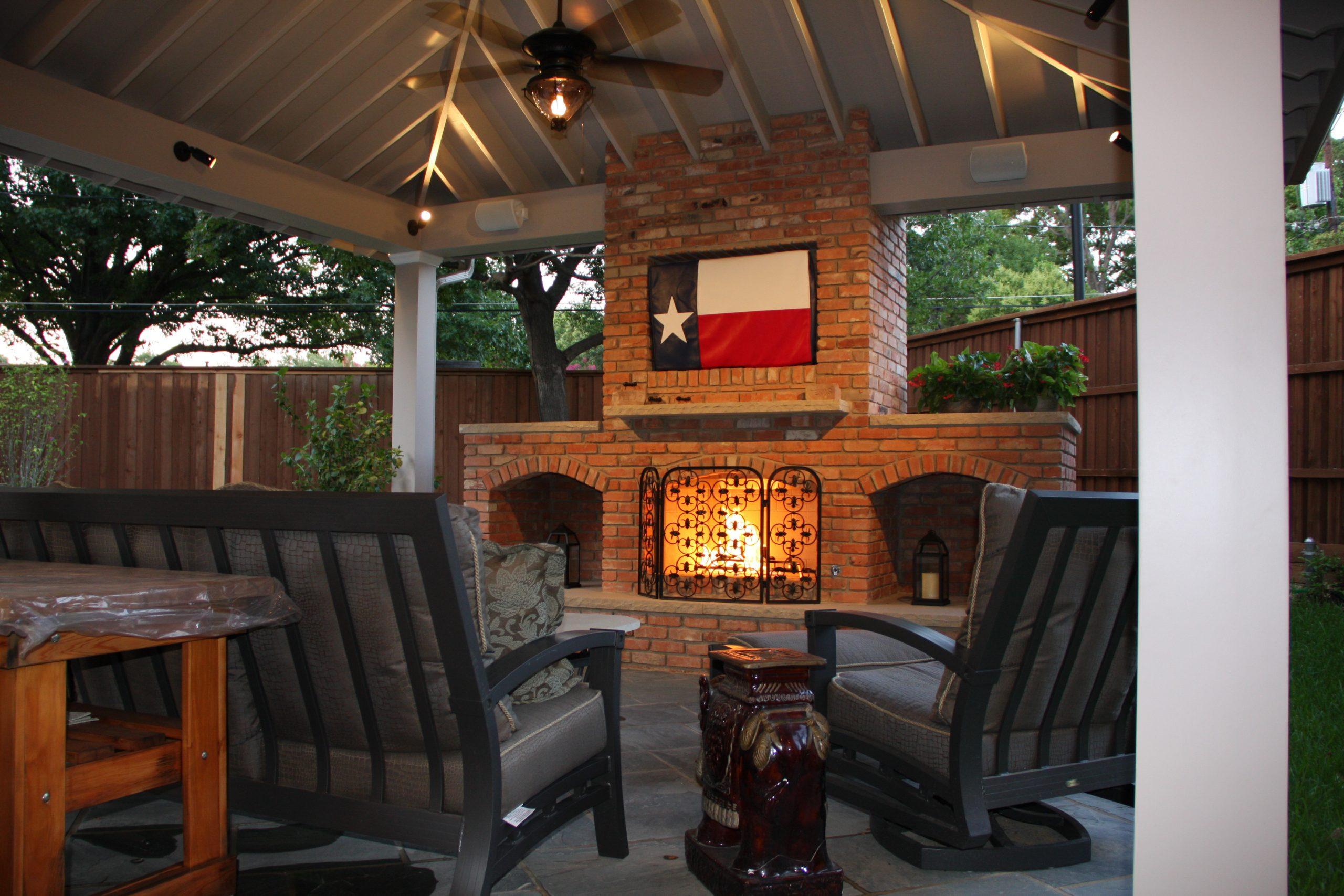 outdoor fireplace in Northwood Hills