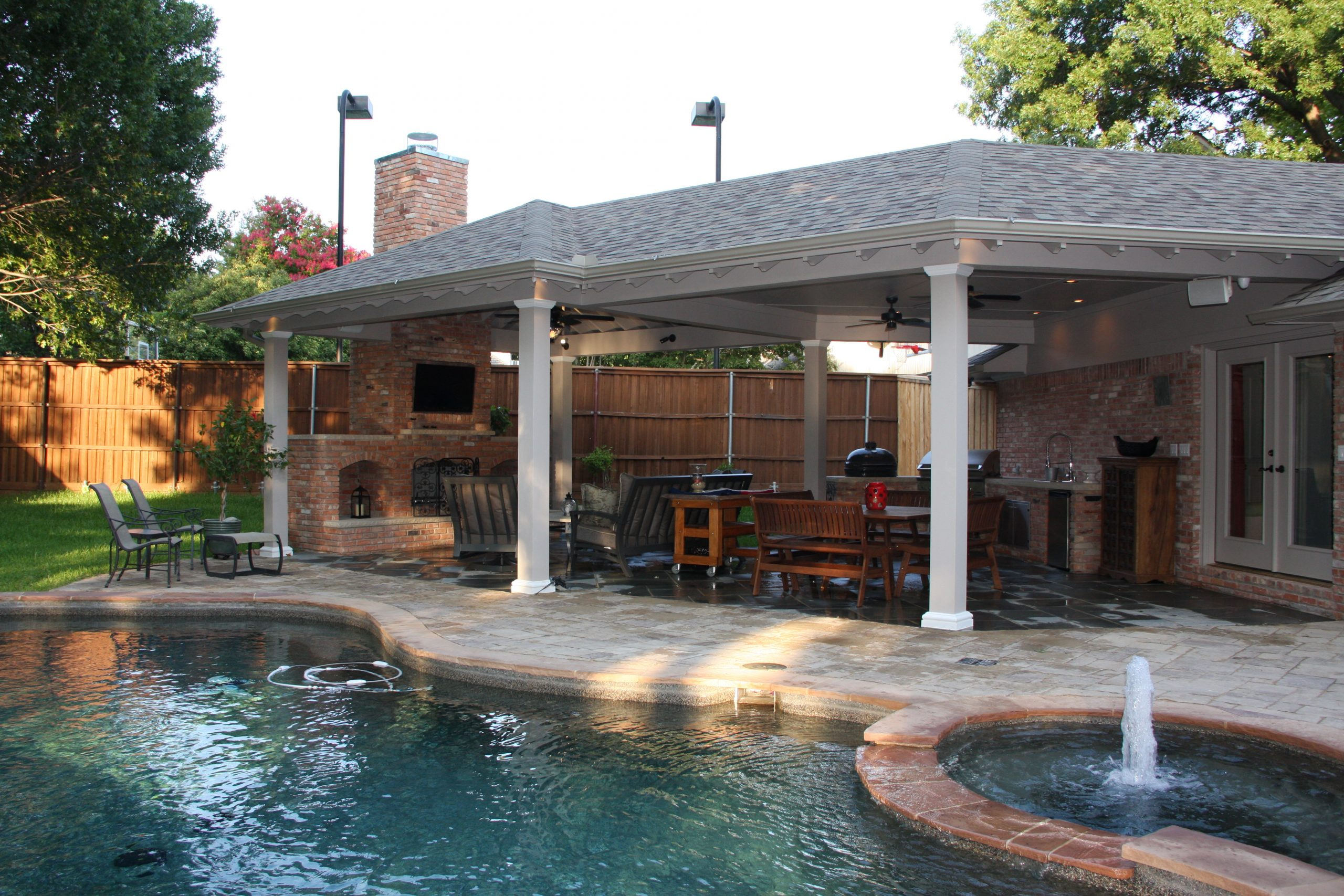 outdoor living addition in Northwood Hills