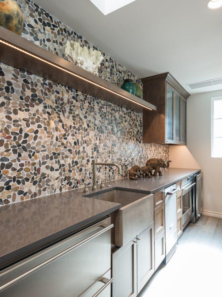 stone backsplash in preston hollow cabana kitchen