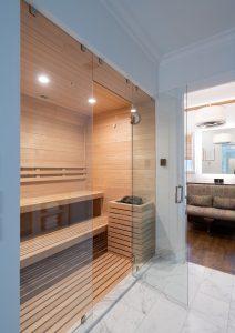 sauna in glen abbey dallas master bathroom remodel
