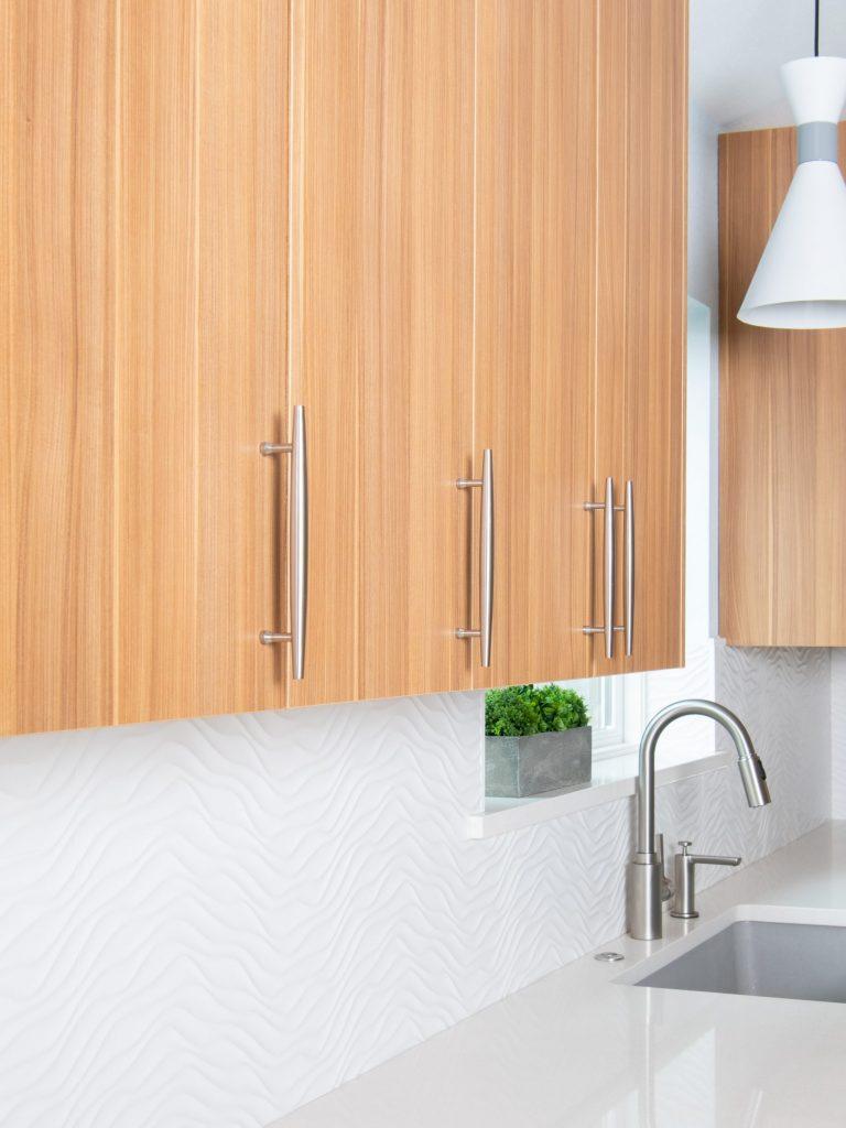 Backsplash detail in North Dallas kitchen remodel