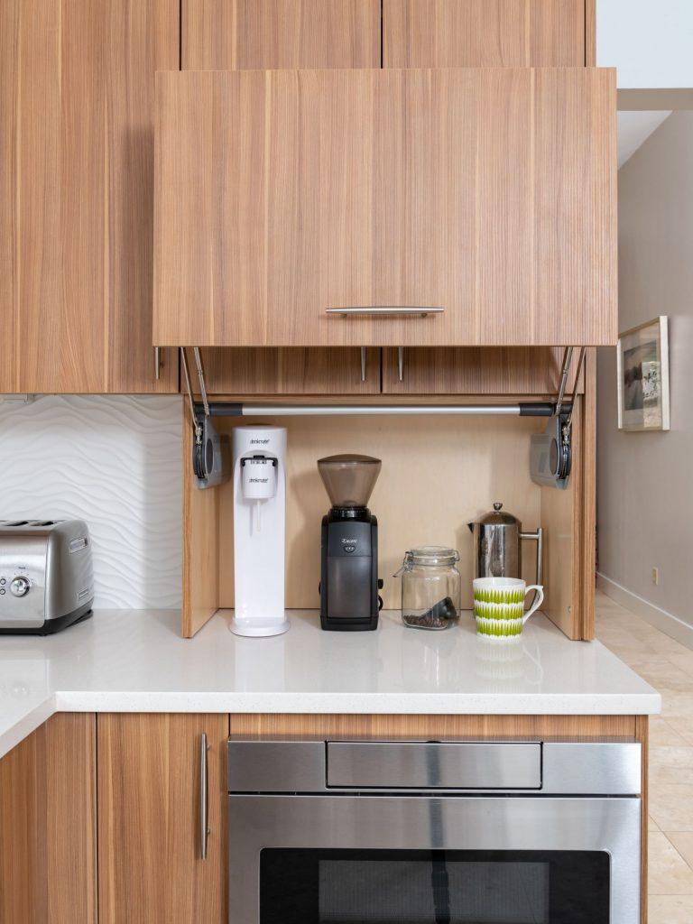 lift up appliance garage in north dallas kitchen remodel
