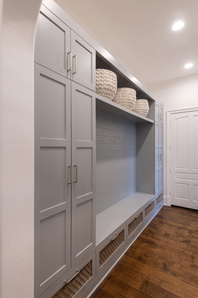 mudroom remodel in north dallas home