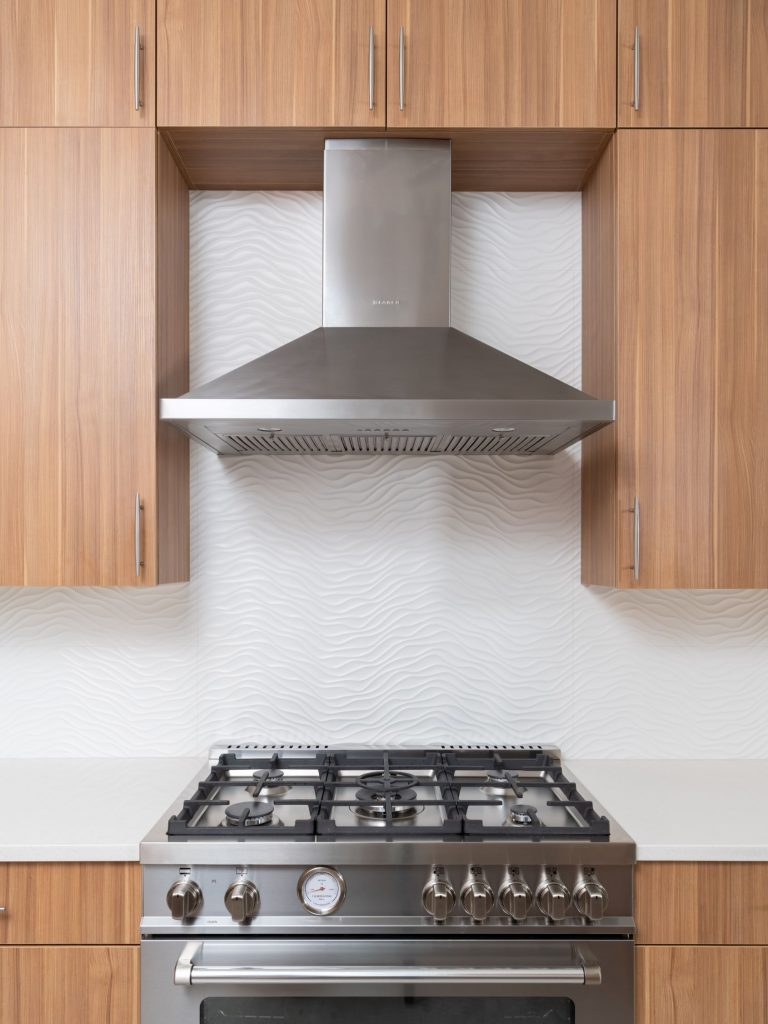 Range in north dallas kitchen remodel