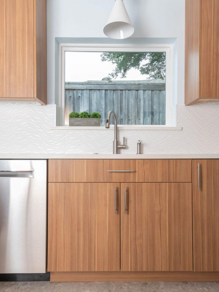Sink in north Dallas kitchen remodel