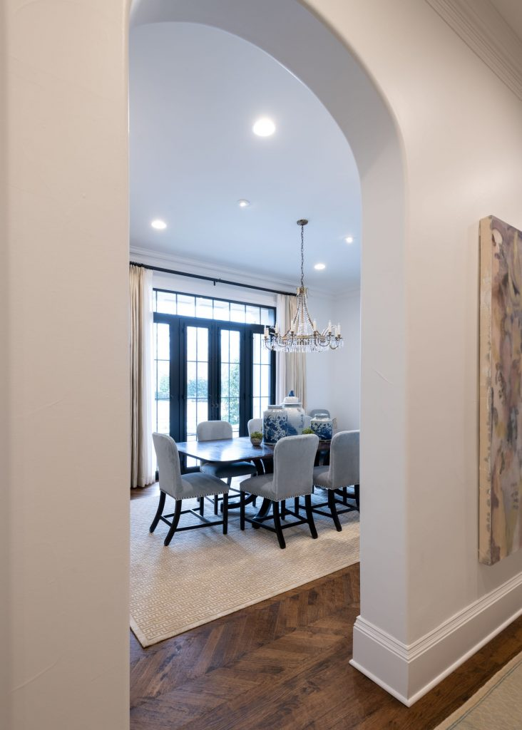 view of dining room remodel in north dallas